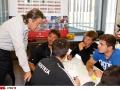 Paul Slamanig im Workshop mit den Sportlern